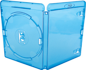 Amaray Blu-ray Single Case in blau