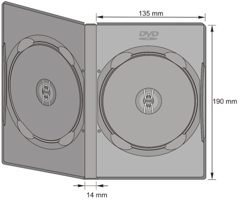 14mm DVD-Doppel Case in transp.