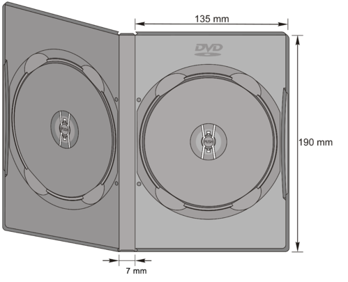 7mm DVD-Doppel Case in transp.