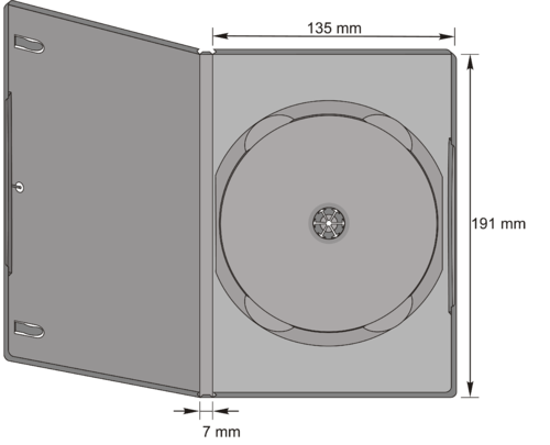 7mm DVD-Slim Single Case in transp.