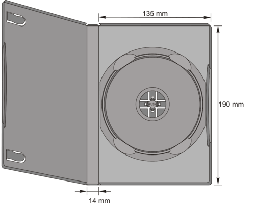 DVD-Standard Single Case in schwarz