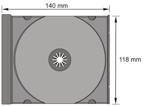 CD-Standard Tray in transp.