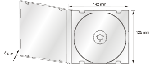 5.2mm CD-Slim Box in transp.